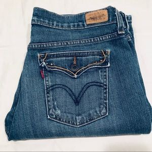 Levi's 515 bootcut high rise embellished jeans